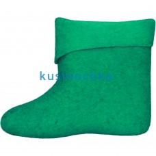 Женские ярко зеленые короткие валенки