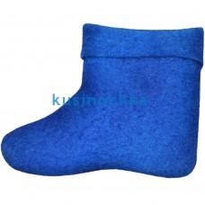Женские ярко синие короткие валенки