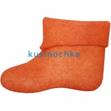 Женские оранжевые короткие валенки