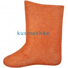 Женские валенки оранжевые цвета