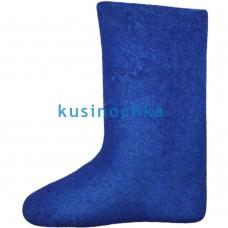 Женские валенки ярко синие цвета